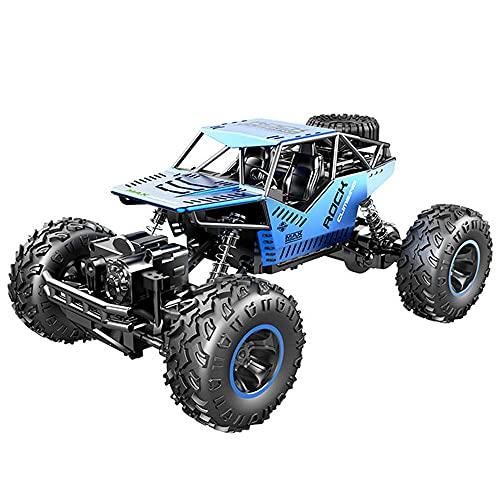 JIANGLL Coche teledirigido eléctrico del Campo a través de la montaña 4WD Vehículo RC de neumático Antideslizante de vacío de Goma 1/18 Camión RC niños y niñas RC Buggy
