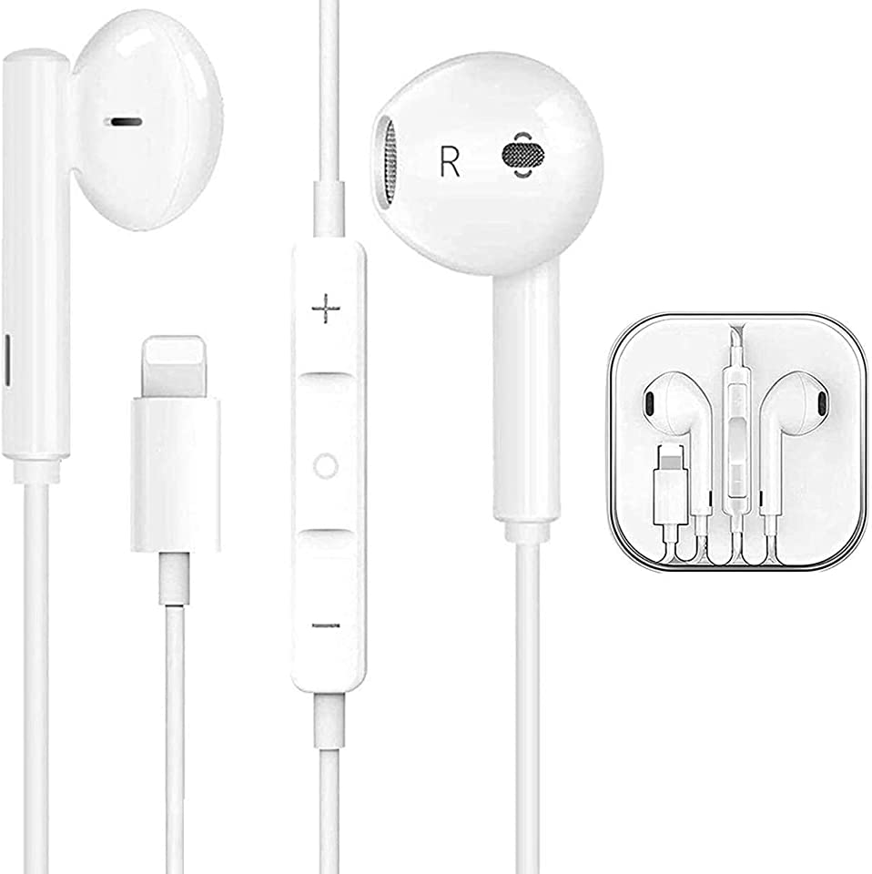 Earphones for iPhone Earbuds in-Ear Wired Headphone Headets Earbuds Privode Mic/Phone Call and Volume Control Compatible with iPhone 7/7 Plus/8/8 Plus/XS/XR/X/11 for iOS 12 More