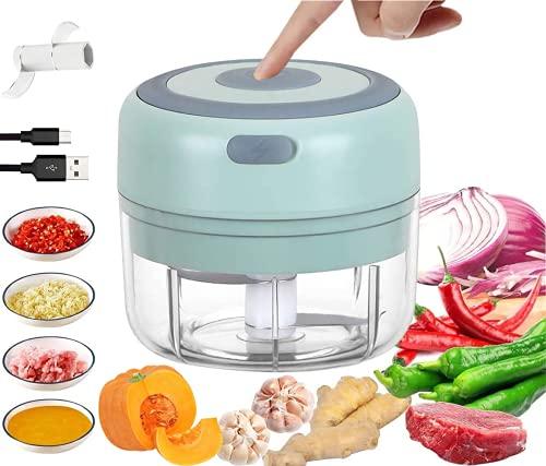 Tritatutto Da Cucina Elettrico,Mini Robot Da Cucina,Tritatutto Elettrico Con 2 Lame Affilate...