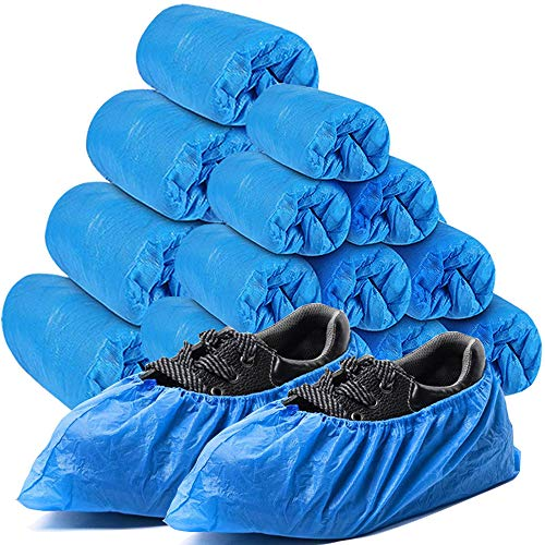 Sunshine post Shoe Covers Disposable,200Pack(100Pairs)Boot Covers Waterproof Non-Slip One Size Fits Most for Rain,Indoor,Women,Men and More
