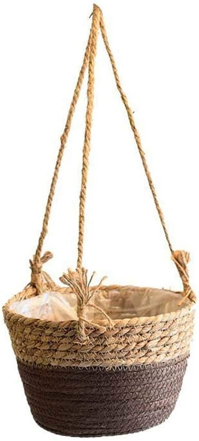 SPDD Plant Jacksonville Mall Storage Basket Hanging Free shipping New Jute Baskets Rope Cotton