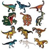 Patch Sticker - Comius 12 Pcs Dinosaur Apliques, Parches Ropa Termoadhesivos,...