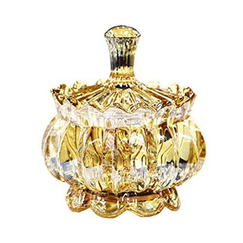 ceniceros Cenicero de Las señoras de Vidrio de Cristal de Vidrio de Postre Helado tazón en Forma de cenicero con Tapa 3.7 Pulgadas de diámetro for la casa cenicero portatil (Color : Amber)