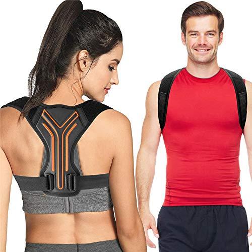 Posture Corrector for Men and Women, Upper Back Brace for Clavicle Support, Adjustable Back Straightener and Providing Pain Relief from Neck, Back & Shoulder, Universal Regular