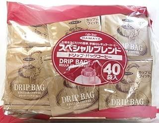 ハマヤ スペシャルブレンド ドリップ・バッグコーヒー 320g(8g×40袋)×2パック