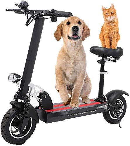 LAZNG Adulto Scooter eléctrico plegable bicicleta eléctrica señoras de los hombres, 3...