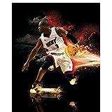Dwyane Wade Miami Heat Super Star Poster Art Bedroom Home