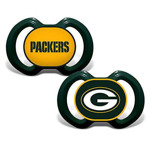 Baby Fanatic Green Bay Packers 2 Piece Pacifier Set by Baby Fanatic