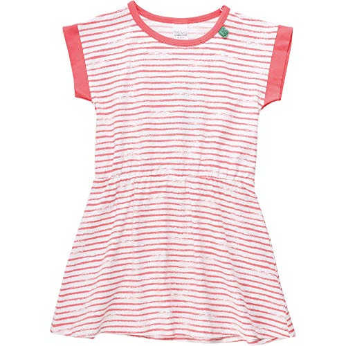 Fred'S World By Green Cotton Ocean Stripe Dress Robe, Rouge (Coral 016164001), 86 Bébé Fille