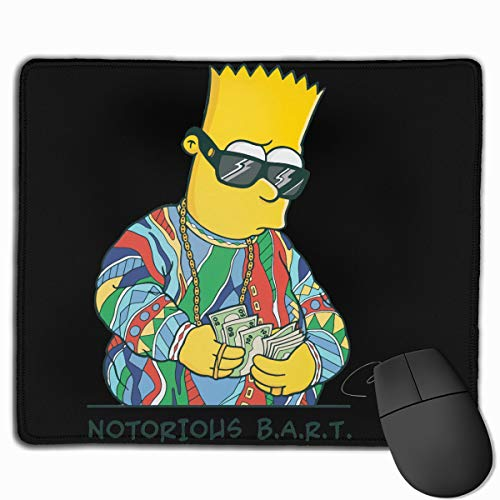 Bart-Simpson Mouse Pads for Computers Laptop Mouse 25x30 Inch