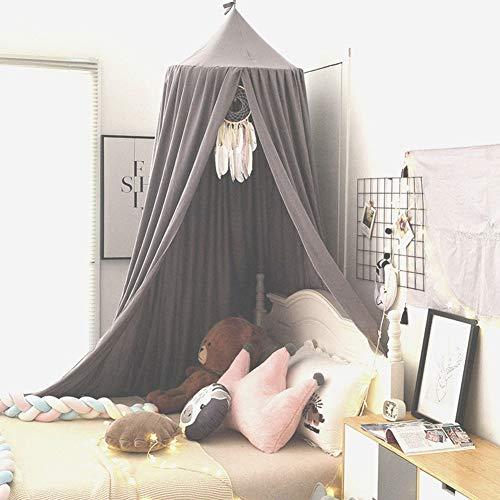 YXZN Baby Kinderbett Baldachin, Runde Kuppel Baumwollzelt Lesesaal Dekorationen Kinderzimmer Dekorationen Höhe Für Baby Kinder 250cm /98.4inch