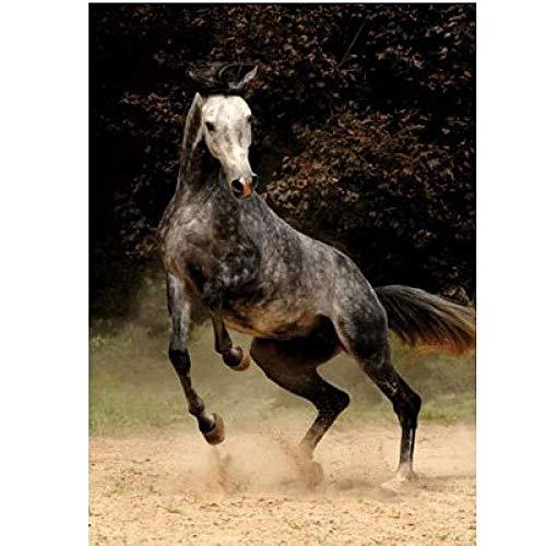 FPRW Puzzels 1000 stukjes, houten lopende dierenpuzzel, kinderen Educatief montagespellen Speelgoed Mooi cadeau - gevlekt paard