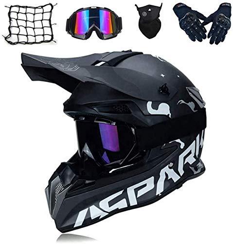 AGVEA Mode Cross-Country-Motorradhelm,Motocross Motorradhelm Downhill Fullface Helm,Für Motorrad Crossbike Off Road Enduro Sport Jugend Motocross Helm Kinder Motorrad Fahrrad Helm (M)