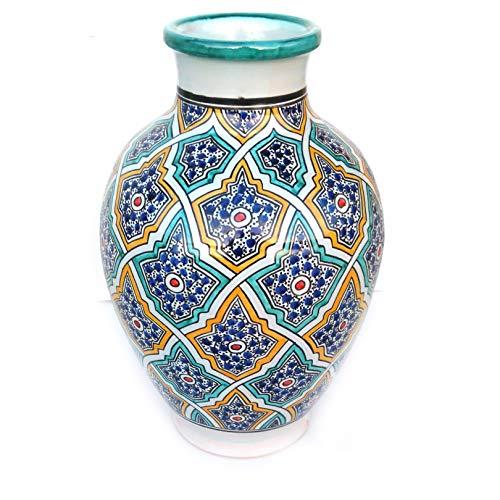 Marokkanische Vase Vintage bunt | Orientalische Vasen und Dekogegenstände| Orientalische Dekoration...
