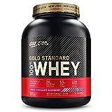 Optimum Nutrition Gold Standard 100% Whey Protéine en Poudre avec Whey Isolate, Proteines Musculation Prise de Masse, Chocolat Blanc Framboise, 76 Portions, 2.28kg, l'Emballage Peut Varier