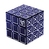 Speed Cube 3x3 3D Relief Effect Braille Figure Magic Cube Puzzle,IQ Games Puzzle Special for Blind,Vision Weakness, 5.6cm