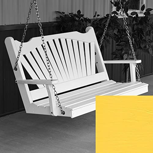 AL Furniture All stores are sold Co. Fanback Porch Swing Pai Yellow Las Vegas Mall 4 Canary Foot