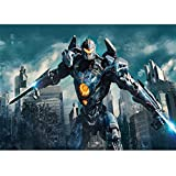 5d Full Square/Round DIY Diamond Painting'Pacific Rim-Mech Warrior'Cross Stitch Mosaic Diamond Embroidery Arts Craft for Home Wall Decor Gift 30cm X 40cm