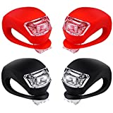 Malker Bicycle Light Front and Rear Silicone LED Bike Light Set - Bike Headlight and Taillight,Waterproof & Safety Road,Mountain Bike Lights,Batteries Included,4 Pack(並行輸入品)
