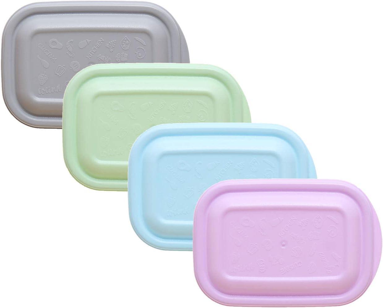 250 ML Congelation Bebe Carree empilable Pastel avec Couvercle Cuisine Boite de Conservation Boite de Rangement Plastique idea-station Boite Plastique Alimentaire 12 Pieces