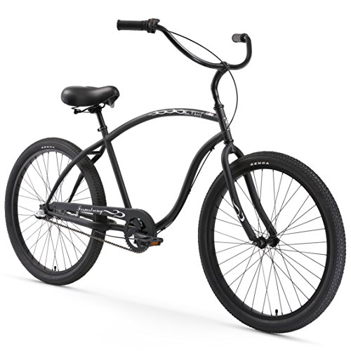 Firmstrong Chief Man Three Speed Beach Cruiser Bicycle, Matte Black, 19 inch / Large
