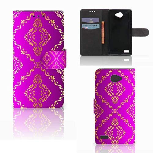 B2Ctelecom Schutzhülle passt für LG Bello 2 Lederhülle Barok Roze