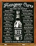 Hangover Cures Around The World Metall Blechschild Retro