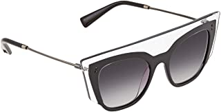 Valentino Cat Eye Sunglasses For Women - Black, Va4035 50868G 49