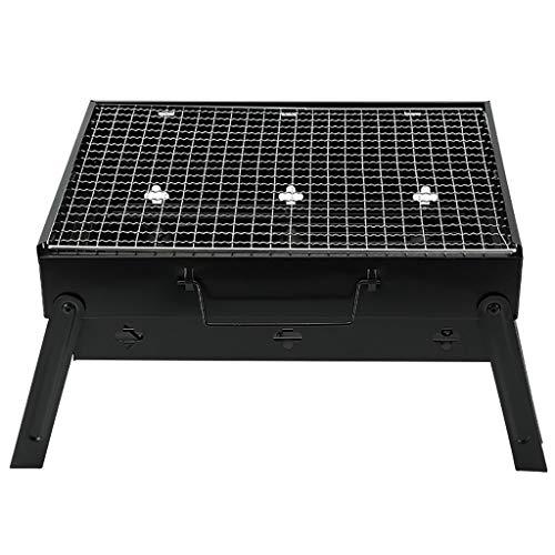 DZLXY BBQ Grill, draagbare barbecue opvouwbare grill voor 3-5 personen, groot formaat (43X29x24 Cm) houtskool Bbq voor tafel Camping Outdoor Grill BBQ Utensil