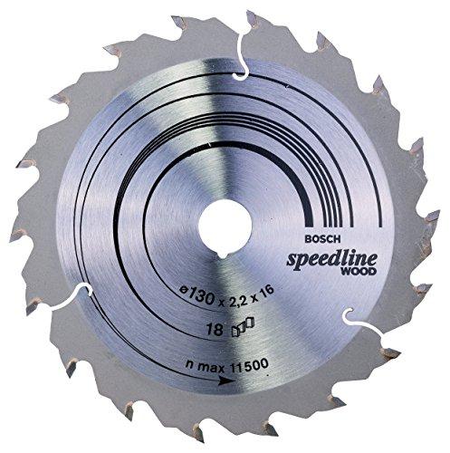 Bosch Professional Zubehör 2608640775 Kreissägeblatt Speedline Wood 130 x 16 x 2,2 mm, 18