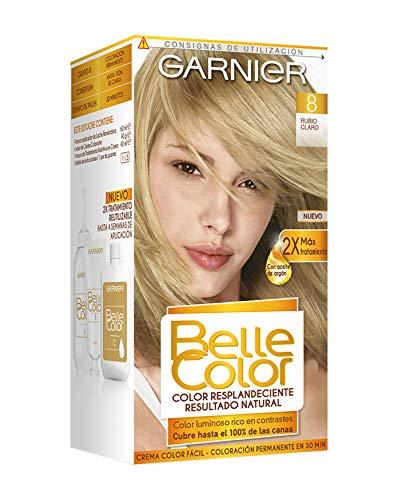 Garnier Belle Color Coloración de aspecto natural y cobertura completa de canas con aceite de germen de trigo - Rubio Claro 8