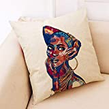 FeiliandaJJ Pillowcase, kissenhülle Kopfkissenbezug Home Dekoration Kissenbezug Afrika Mädchen...