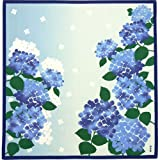 綿小風呂敷(50cm) あじさいの花