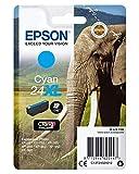 Epson Cartucho De Tinta Epson 24 Xl Cian 8,7Ml, paquete estándar, XL válido para los modelos Expression Photo XP-55, XP-750, XP-950, XP-960 y otros, Ya disponible en Amazon Dash Replenishment