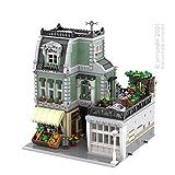 Xshion MOC-59472 Juego de casa de bloques de construcción modular compatible con Lego 10278, 10270, 3627 piezas Kit de construcción modular, bloques de construcción de arquitectura de 3 pisos
