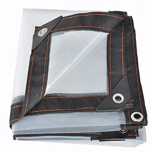 LLCXL transparant zeil waterdicht, transparante zeilen avec Oeillet MéTallique sterk en duurzaam scheurvastheid 6x15ft / 2x5m