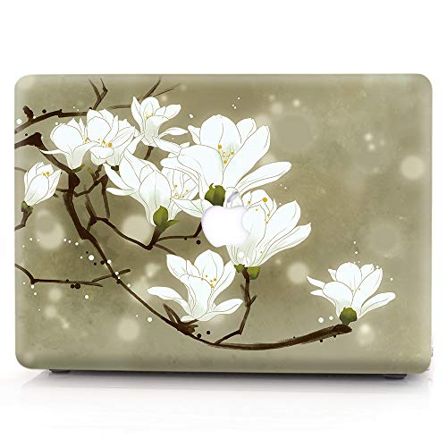 RQTX Macbook Pro 13 Inch Case(2019-2016 Release),Laptop Cover Creative Pattern Shell Plastic Cover Case for Macbook Pro 13'' Model: A2159/A1989/A1706/A1708 ,Peony