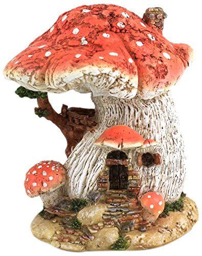 Top Collection Miniatur-Feenhaus, Pilz, Rot