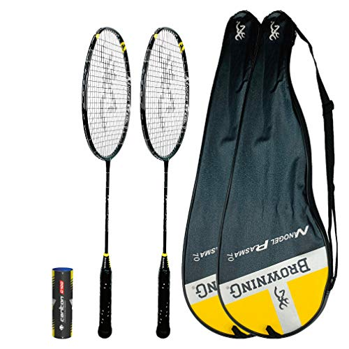 Browning NanoGel Plasma 70 Graphite Badminton Racket Single Set and Double Options Available 2 Rackets Covers Shuttles