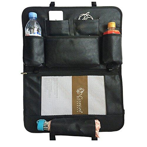De haute qualité de voiture Organiseur pour dossier de siège Leatherware Sac de rangement, Noir, B