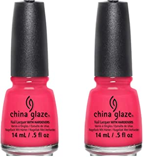China Glaze Nail Polish, Pool Party, 0.5 oz (Pack of 2)