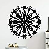 Pegatinas de pared de patrón geométrico cartel mural extraíble pegatinas de decoración de sala de estar pegatinas de pared impermeables A3 57x57cm