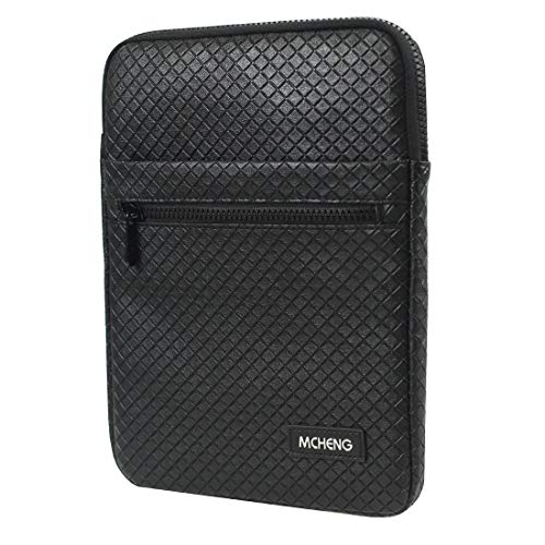 MCHENG Tablet Case, Universal PU Bag with 8 Inch Handles for Apple Tablets, ASUS, MemoPad, Samsung, Sony, Nokia - Black