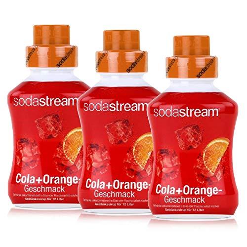 SodaStream Getränke-Sirup Softdrink Cola+Orange Geschmack 500ml (3er Pack)