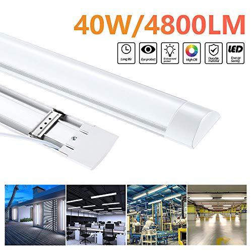 LED Feuchtraumleuchte Warmweiß 120cm,40W led Röhre Tageslicht 3000k Deckenleuchte LED Lampen, IP65 Wasserfest für Einsatz im Aussenbereich geeignet, Keller, Werkstatt, [Energieklasse A++]