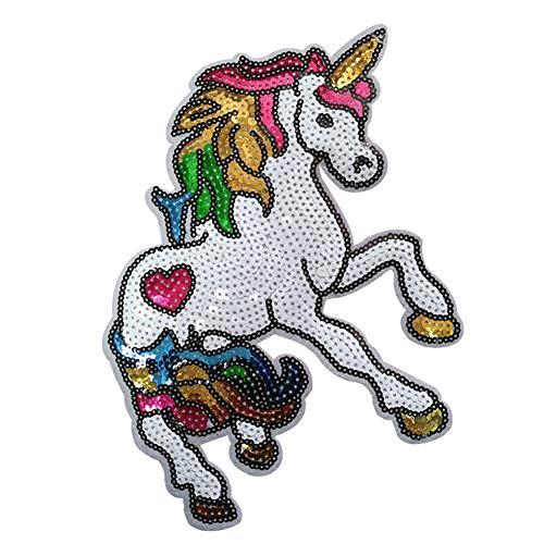 Unicornio De Dibujos Animados De Lentejuelas Patch