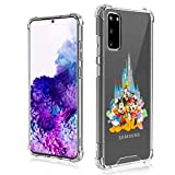 DISNEY COLLECTION Samsung Galaxy S20 Case 6.2 Inch (2020) Mickey Mouse and Friends Ultra-Thin Shockproof Scratch-Resistant Hard PC + Soft TPU Transparent Bumper Protective Cover Case