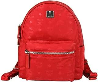 MCM Red Dieter Teardrop Small Backpack in Monogram Nylon MUK8ADT11RJ001