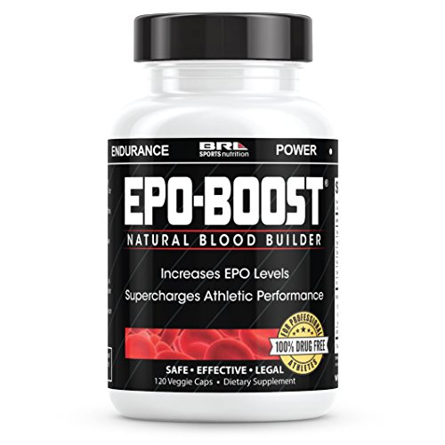 EPO-BOOST Natural Blood Builder Sports Supplement. RBC Booster with Echinacea & Dandelion Root for increased VO2 Max, Energy, Endurance (120 Capsules)