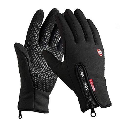 solawill Fahrradhandschuhe, Wasserdichter Touchscreen Handschuhe Winddicht Winterhandschuhe Warm Rutschfestes Sporthandschuhe Unisex für den Outdoor Sport wie Radsport, Reiten